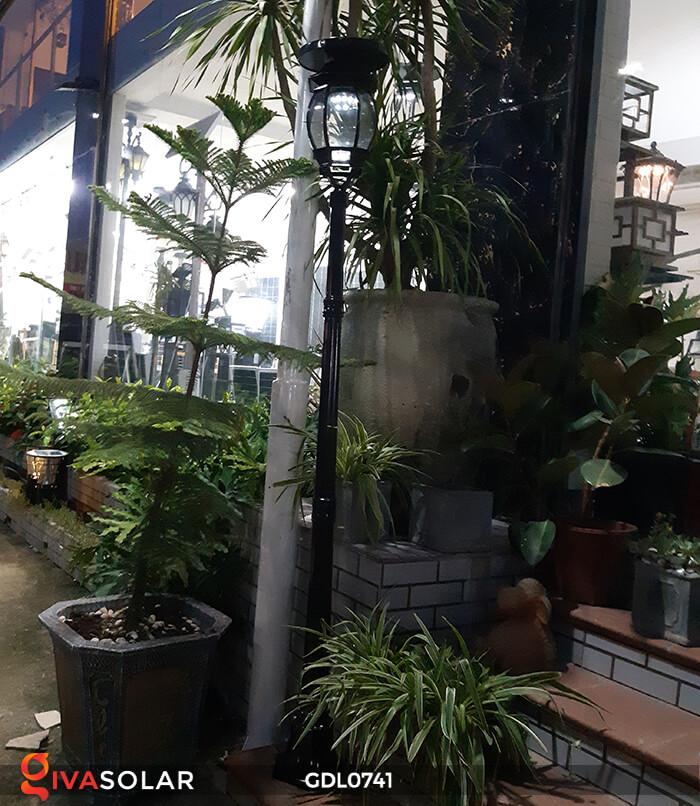 Đèn cột năng lượng mặt trời sân vườn GDL0741 2