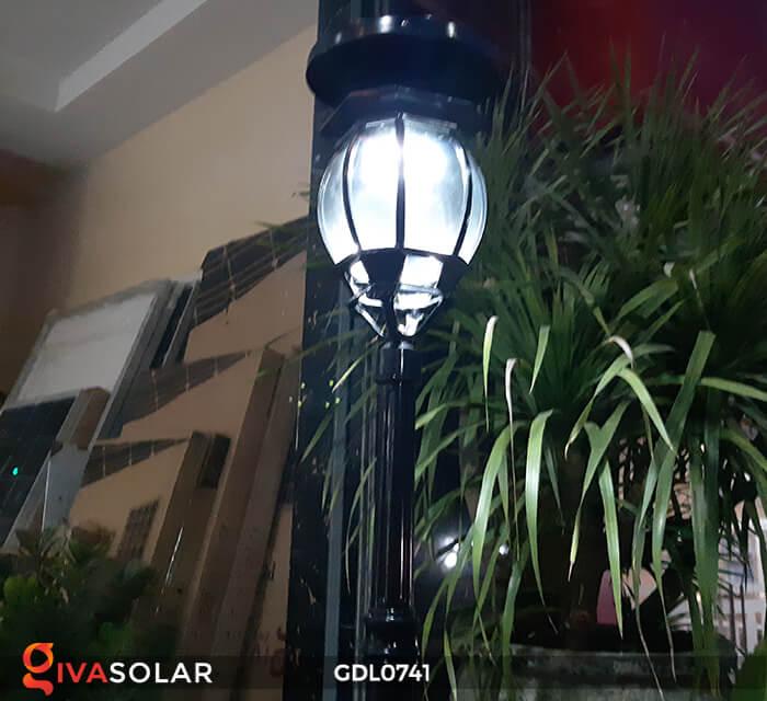 Đèn cột năng lượng mặt trời sân vườn GDL0741 6