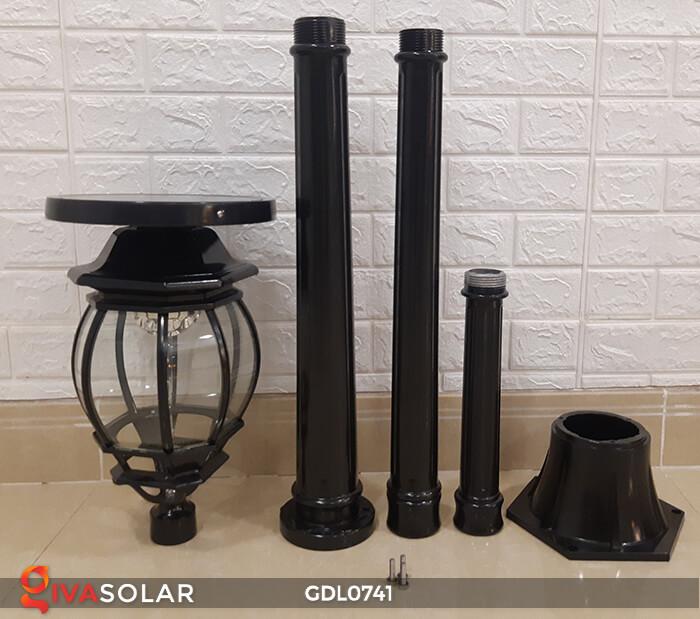 Đèn cột năng lượng mặt trời sân vườn GDL0741 8