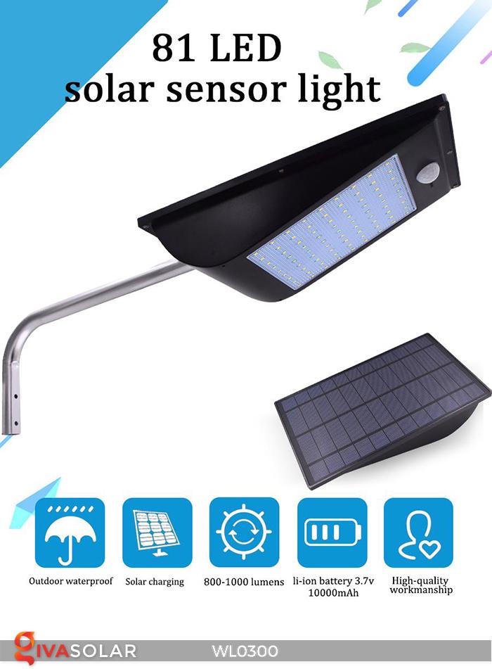 Đèn tường chạy năng lượng mặt trời WL0300 1