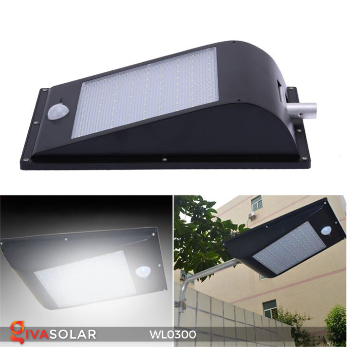 Đèn tường chạy năng lượng mặt trời WL0300 15