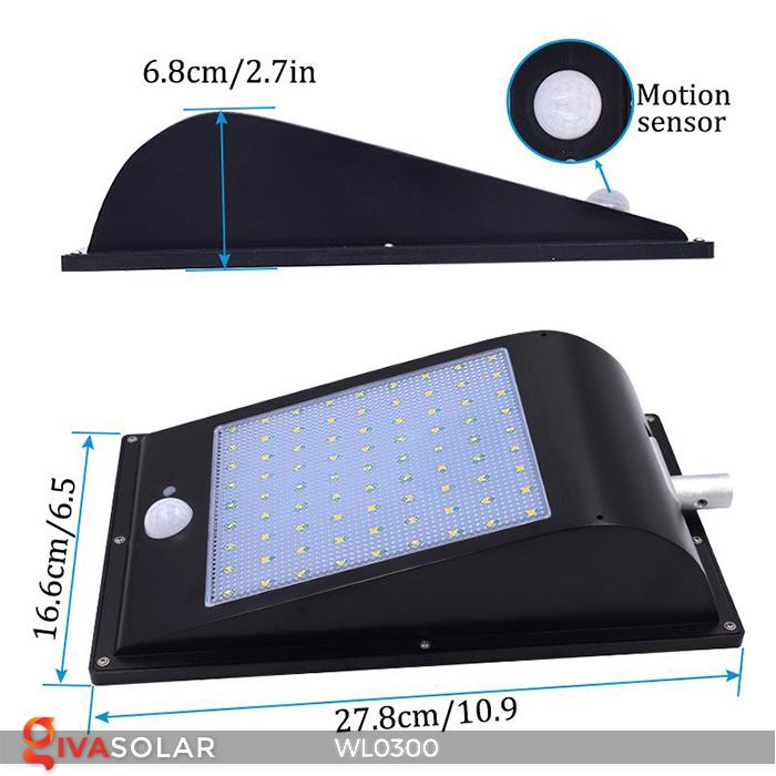 Đèn tường chạy năng lượng mặt trời WL0300 6