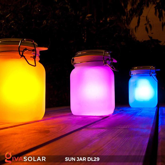 Lọ thủy tinh đổi màu năng lượng mặt trời DL29 1