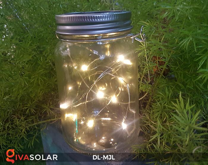 Lọ thủy tinh trang trí năng lượng mặt trời DL-MJL 18