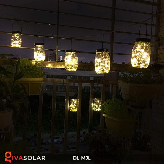 Lọ thủy tinh trang trí năng lượng mặt trời DL-MJL 3