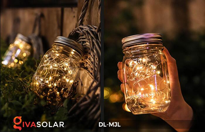 Lọ thủy tinh trang trí năng lượng mặt trời DL-MJL 5