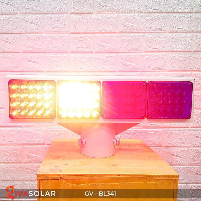 Đèn cảnh báo giao thông năng lượng mặt trời BL341 7