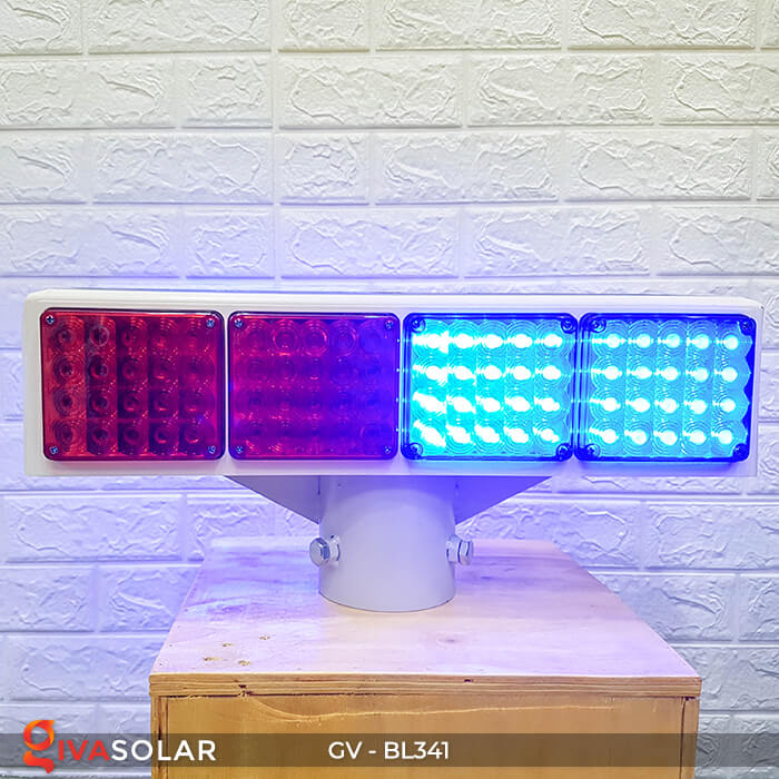 Đèn cảnh báo giao thông năng lượng mặt trời BL341 8