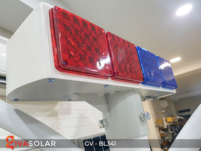 Đèn cảnh báo giao thông năng lượng mặt trời BL341 9