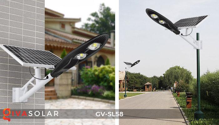 đèn đường LED năng lượng mặt trời SL58 4