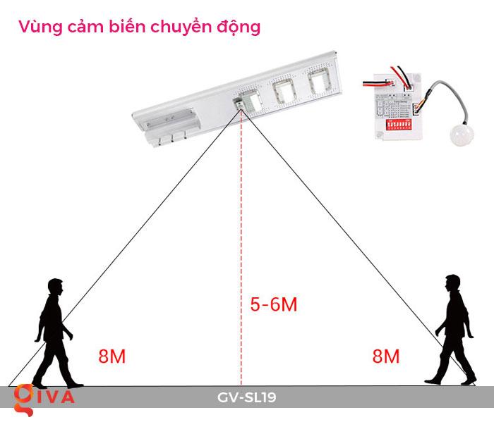 Đèn đường LED năng lượng mặt trời SL19 17