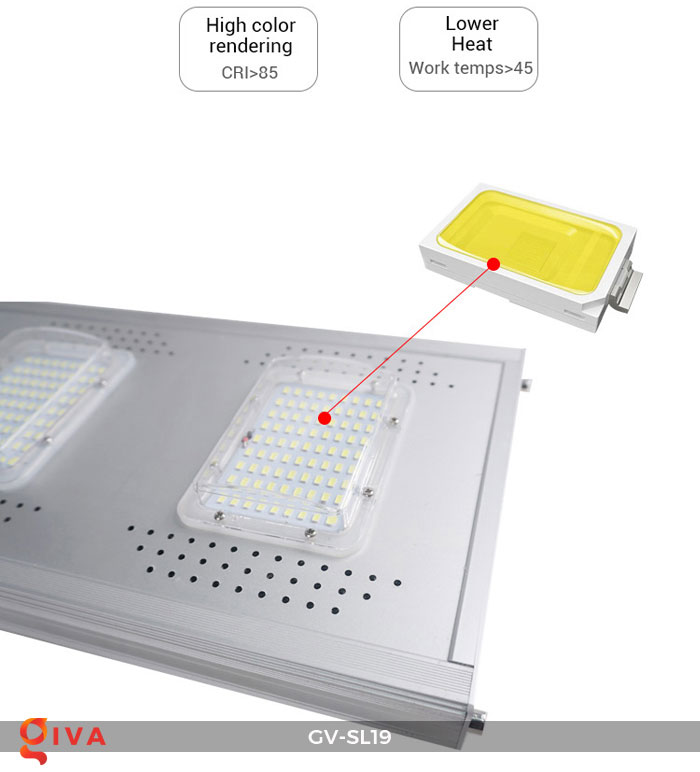 Đèn đường LED năng lượng mặt trời SL19 22