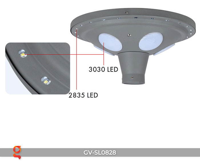 Đèn đường tròn năng lượng mặt trời SL0828 15