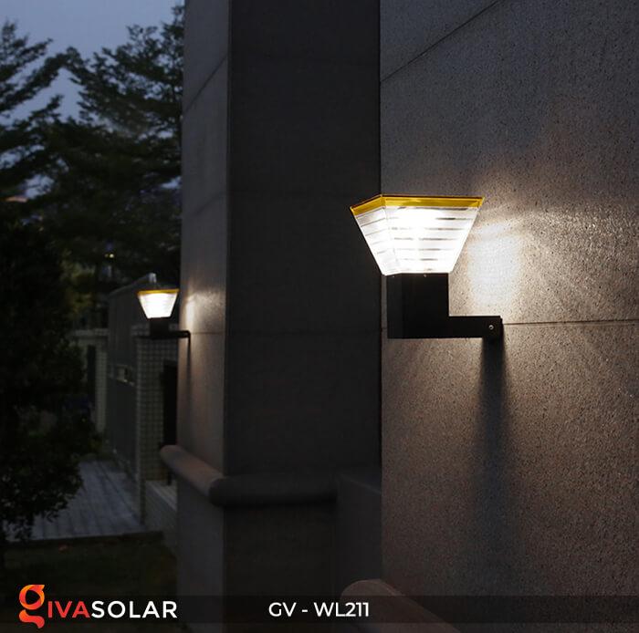 Đèn gắn tường năng lượng mặt trời WL211 2