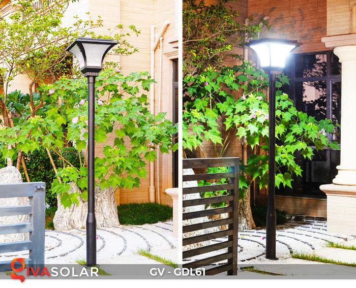 Đèn năng lượng mặt trời chiếu sáng sân vườn GDL61 12
