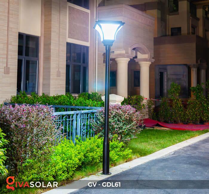 Đèn năng lượng mặt trời chiếu sáng sân vườn GDL61 16