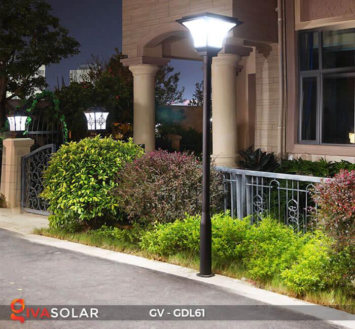 Đèn năng lượng mặt trời chiếu sáng sân vườn GDL61 17