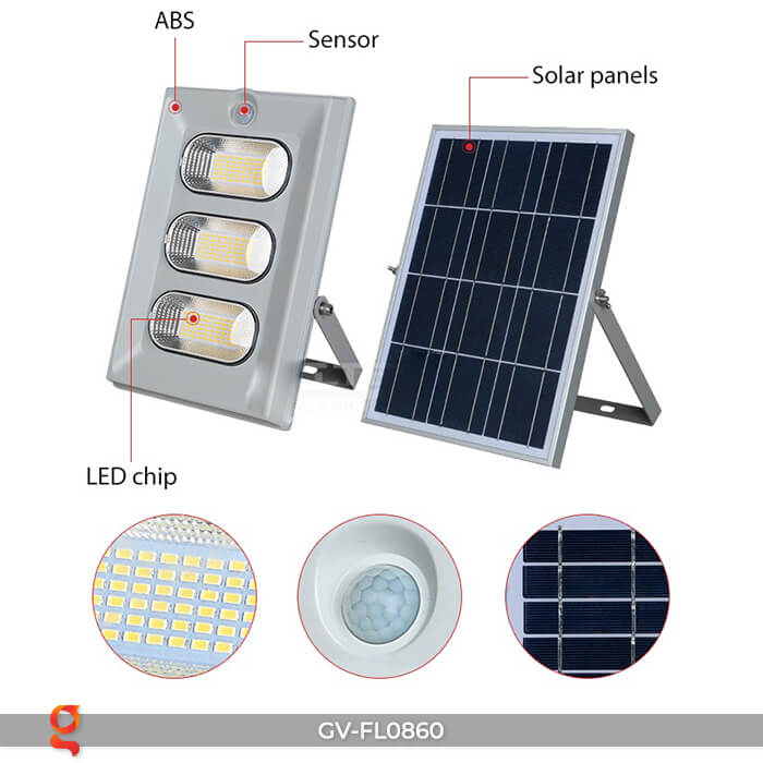 Đèn pha LED năng lượng mặt trời FL0860 24