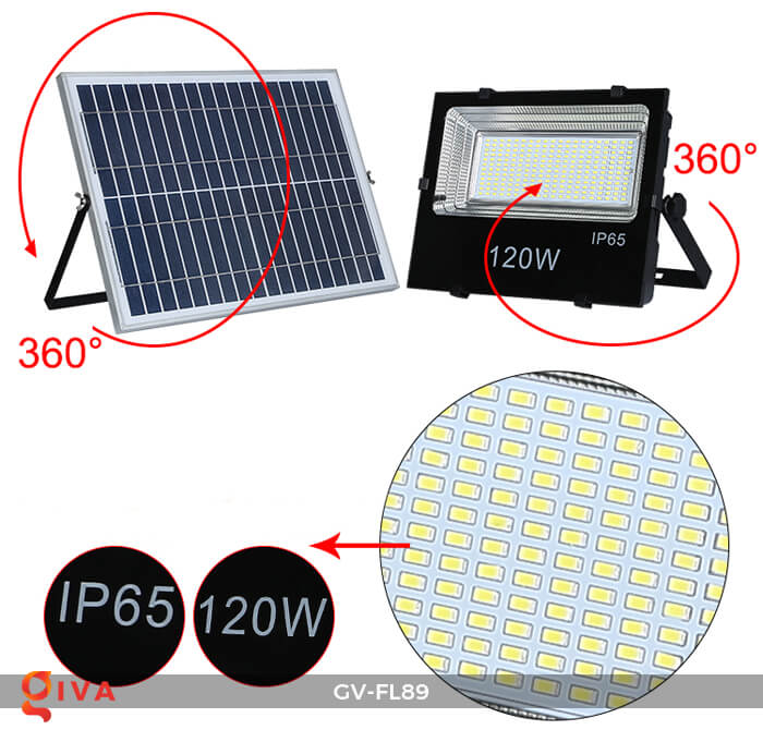 Đèn pha năng lượng mặt trời cao cấp FL89 14