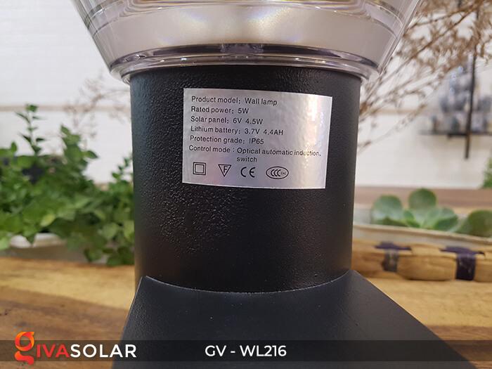 Đèn treo tường năng lượng mặt trời WL216 12