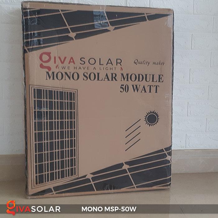 tấm pin mặt trời mini mono 50W 4