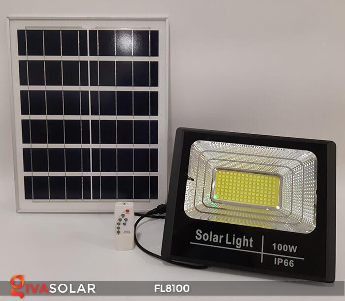 Đèn pha LED COB năng lượng mặt trời FL8100 1