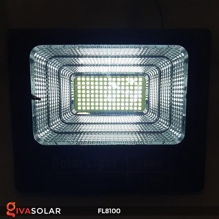 Đèn pha LED COB năng lượng mặt trời FL8100 12