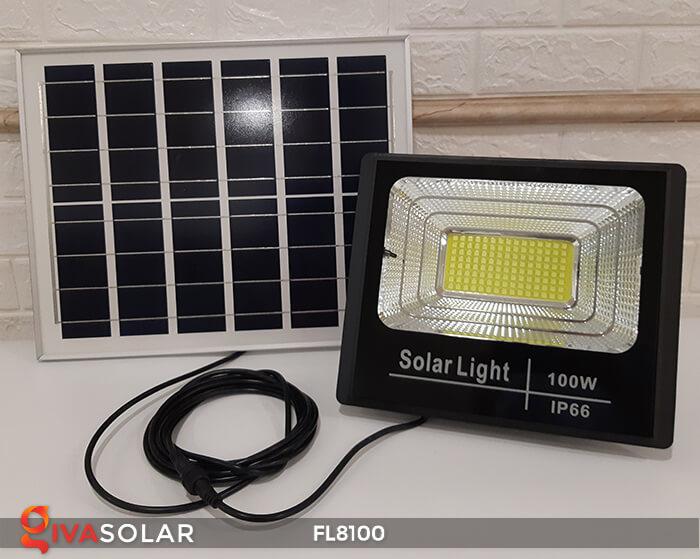 Đèn pha LED COB năng lượng mặt trời FL8100 2