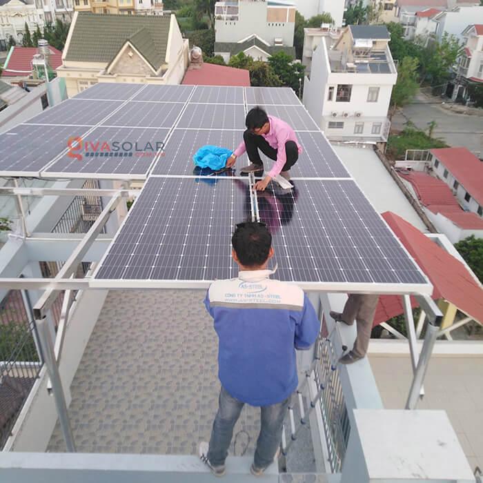 Hệ thống điện mặt trời hoà lưới 5kW bình chánh 1