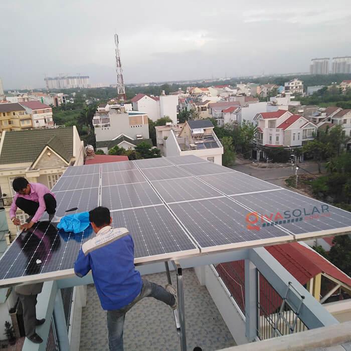 Hệ thống điện mặt trời hoà lưới 5kW bình chánh 2