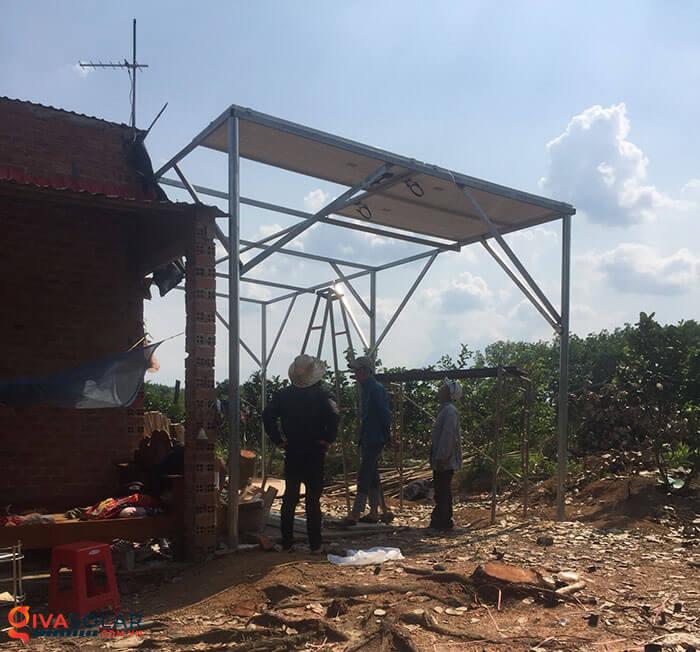 Lắp đặt xong hệ thống điện mặt trời 5kW 2