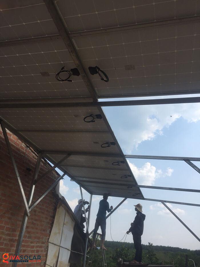 Lắp đặt xong hệ thống điện mặt trời 5kW 5