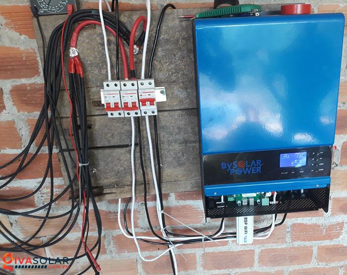 Lắp đặt xong hệ thống điện mặt trời 5kW 7