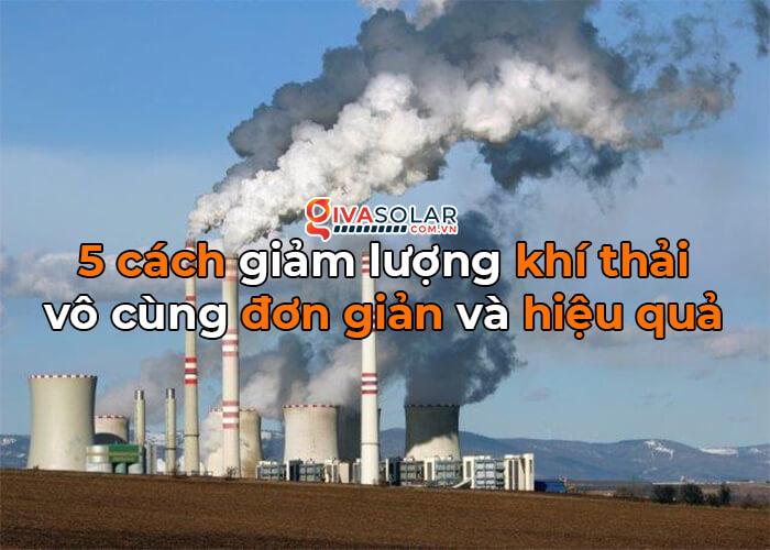 cách đơn giản để giảm lượng khí thải