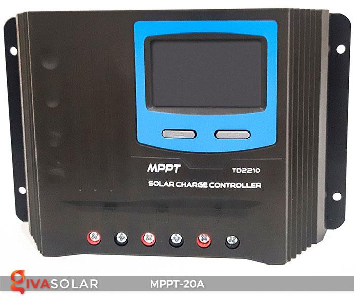 Bộ điền khiển sạc năng lượng mặt trời MPPT 20A 2