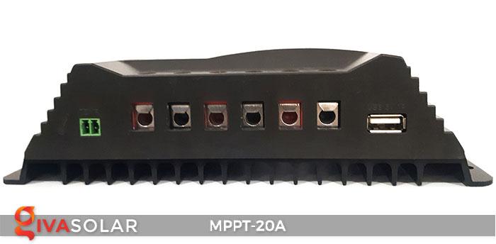 Bộ điền khiển sạc năng lượng mặt trời MPPT 20A 4