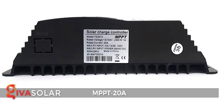 Bộ điền khiển sạc năng lượng mặt trời MPPT 20A 5