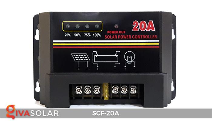 Bộ điều khiển sạc năng lượng mặt trời SCF-20A 1