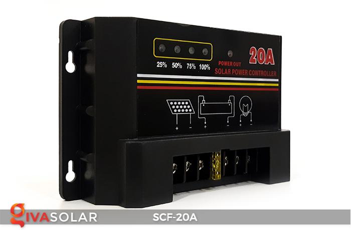 Bộ điều khiển sạc năng lượng mặt trời SCF-20A 2