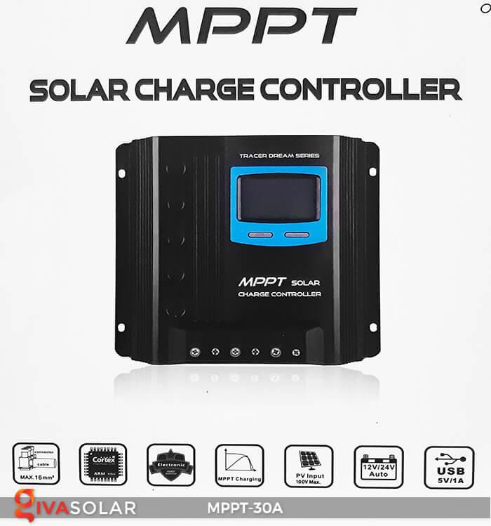 Bộ điều khiển sạc điện mặt trời MPPT-30A 1