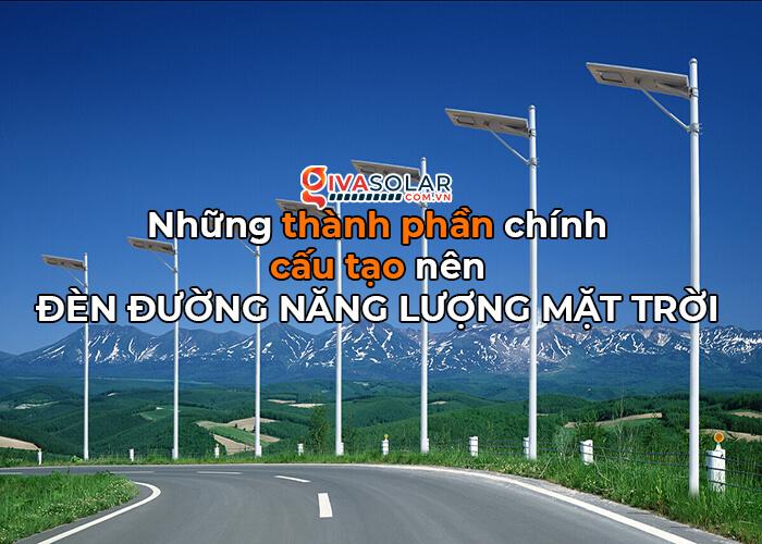 cấu tạo đèn đường điện mặt trời