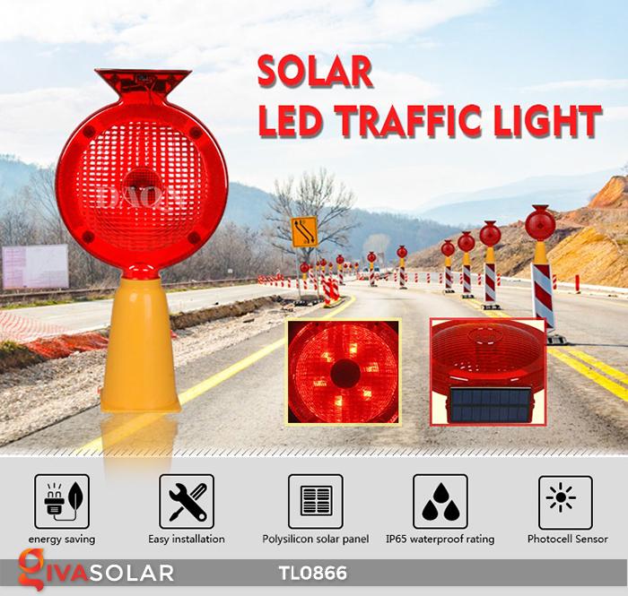 Đèn báo hiệu năng lượng mặt trời TL0866 1
