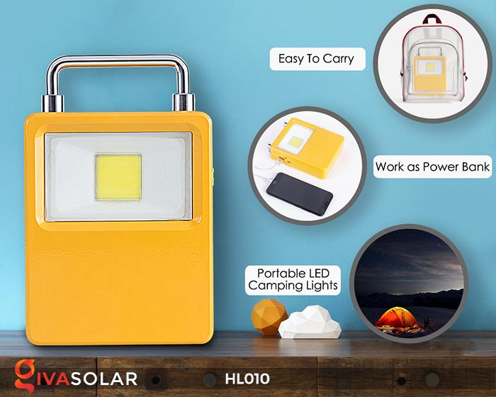 Đèn cầm tay mini năng lượng mặt trời HL010 3