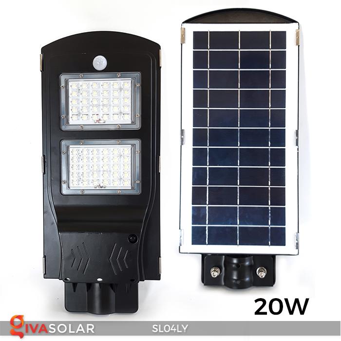 Đèn đường LED chạy năng lượng mặt trời SL04LY 6