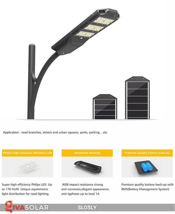 Đèn đường năng lượng mặt trời thông minh SL03LY 14