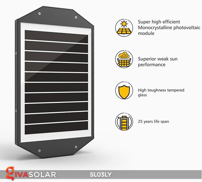 Đèn đường năng lượng mặt trời thông minh SL03LY 18