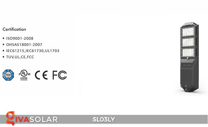 Đèn đường năng lượng mặt trời thông minh SL03LY 21