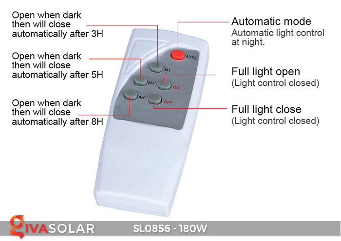 Đèn đường năng lượng mặt trời công suất lớn SL0856 13