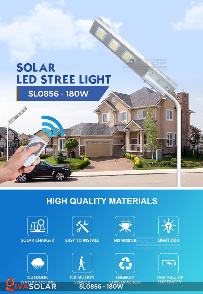 Đèn đường năng lượng mặt trời công suất lớn SL0856 2
