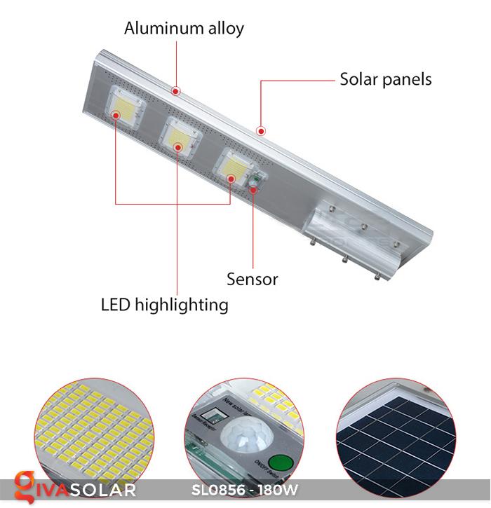 Đèn đường năng lượng mặt trời công suất lớn SL0856 9
